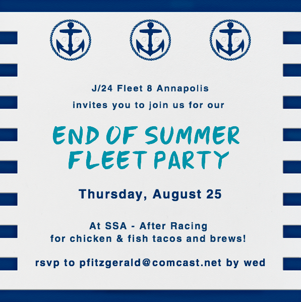 J24 Fleet Party Aug 25